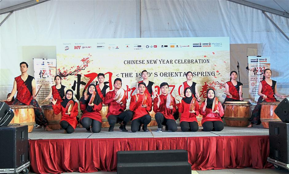 The collaboration featuring the 24 Festive Drums and the Kompang is a highlight of the Chinese New Year celebrations at Sunway University.