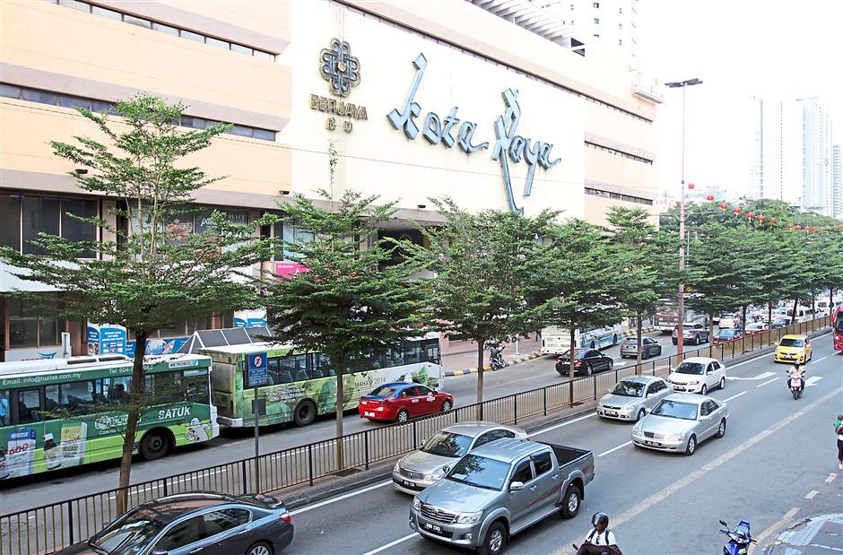 Popular meeting place: Kota Raya shopping centre is one of the landmarks along Jalan Tun Tan Cheng Lock.