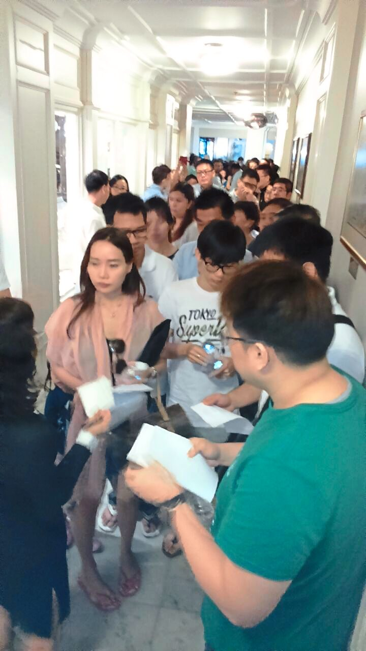 Strong interest: Prospective buyers started queuing as early as 5.30am at the sales gallery for the development.