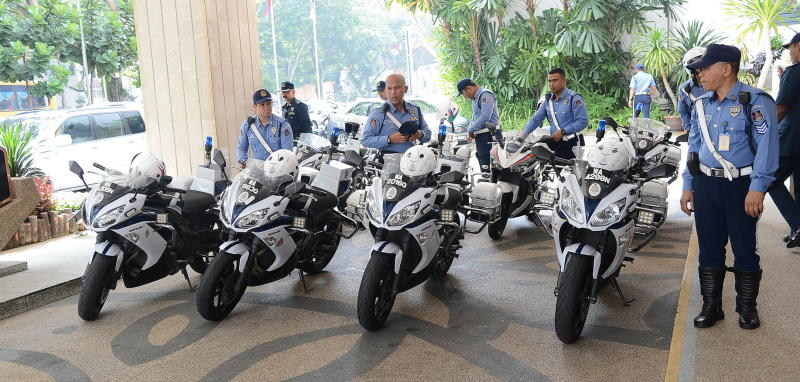 The Rover Squad is Kuala Lumpur City Hall\'s (DBKL) newest initiative to keep the streets clear of traffic. Pictured is the squad made up of eight enforcement officers on motorcycles, who will be split up into teams of two, covering four traffic prone areas.