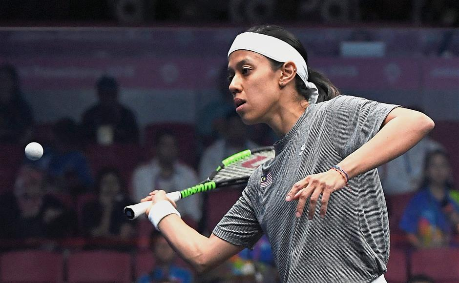 On a high: Nicol David beat Indiau2019s Dipika Pallikal in the first round of the China Open yesterday. u2014 AFP