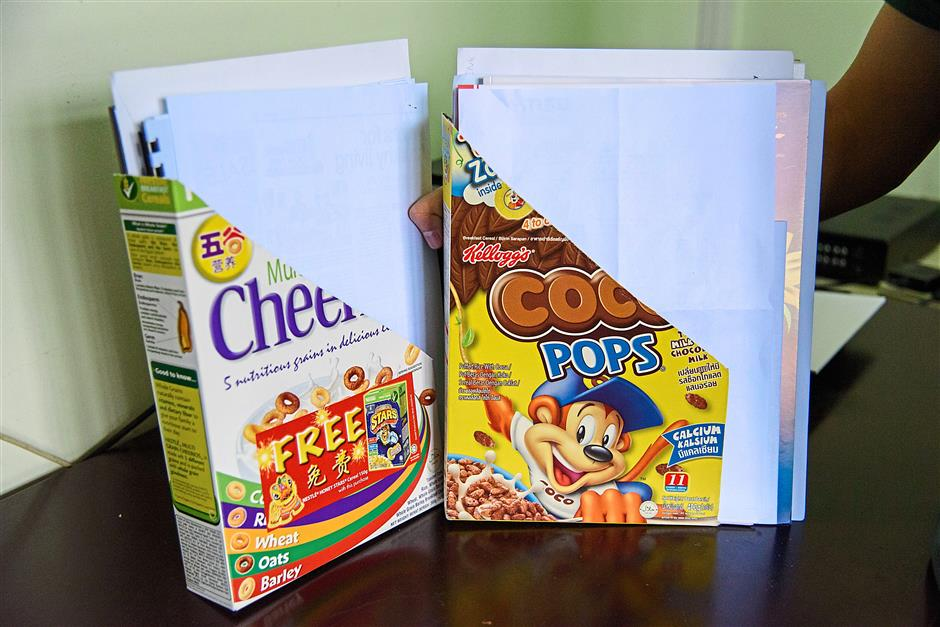 4. Making desk organisers out of cereal boxesPhotos for Top 10 story: 10 nifty uses for everyday items