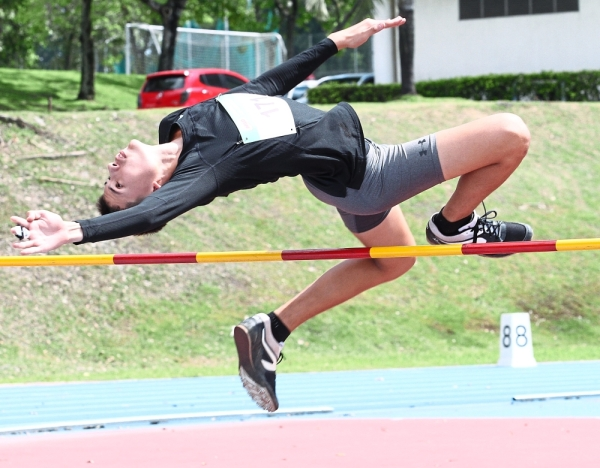 Many of the athletes showed determination during the competition even though it was part of a development programme.