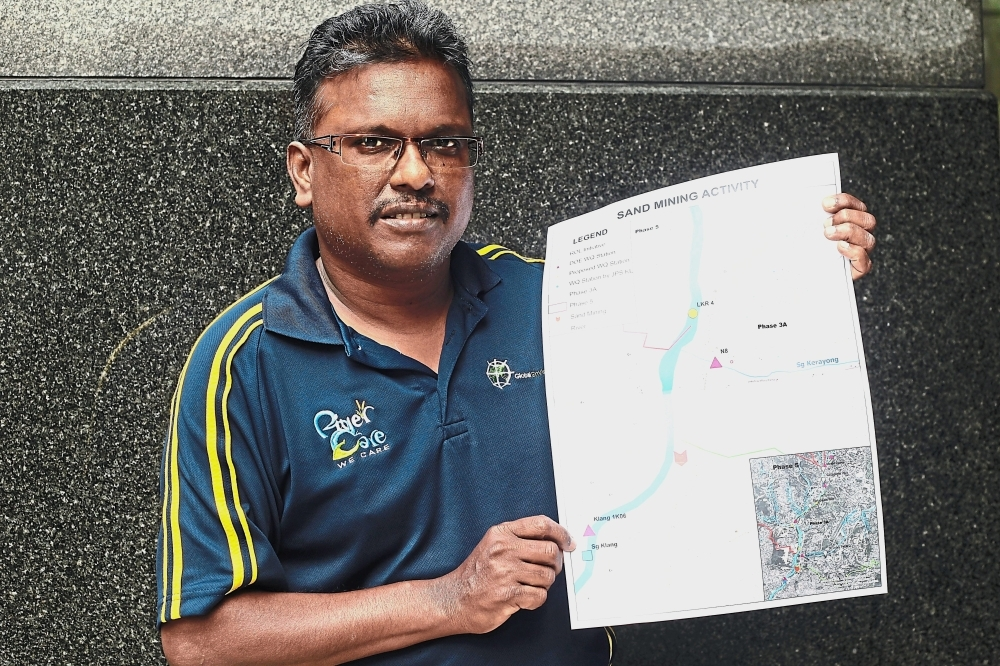 Dr Kalithasan says the illegal activity is hampering the Government's billion-ringgit river cleaning and rehab operations under the River of Life project.