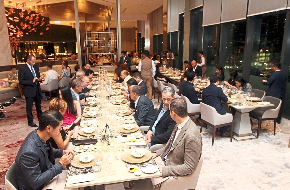 Trade partners, importers and guests of the Italian Trade Agency-Kuala Lumpur dining at Repetti's 'Homage to the Italian Tradition of Genuine Cooking' event.
