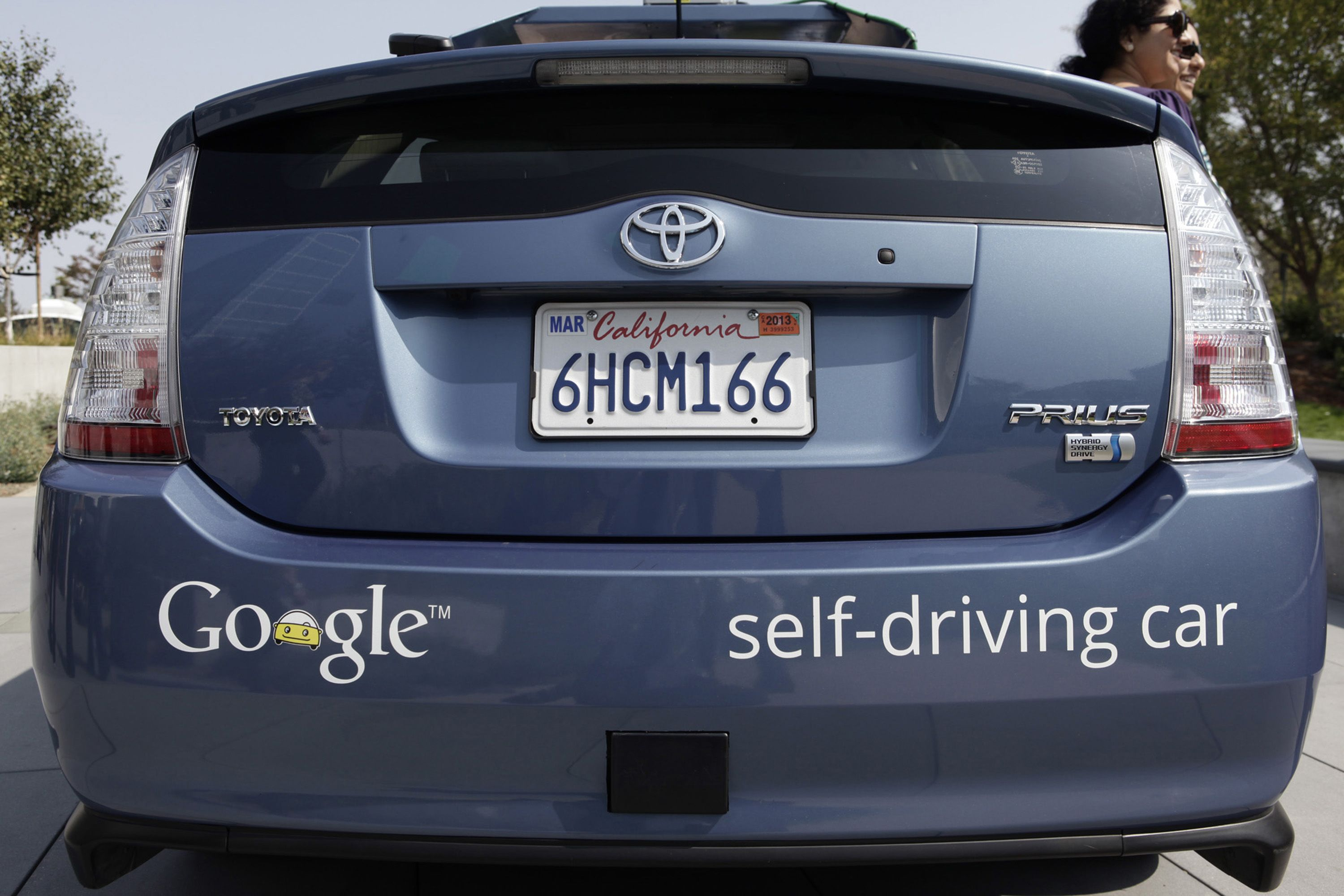 A driverless car is on display at Google Headquarters in Mountain View, Calif., on September 25, 2012. (Gary Reyes/Bay Area News Group/TNS)