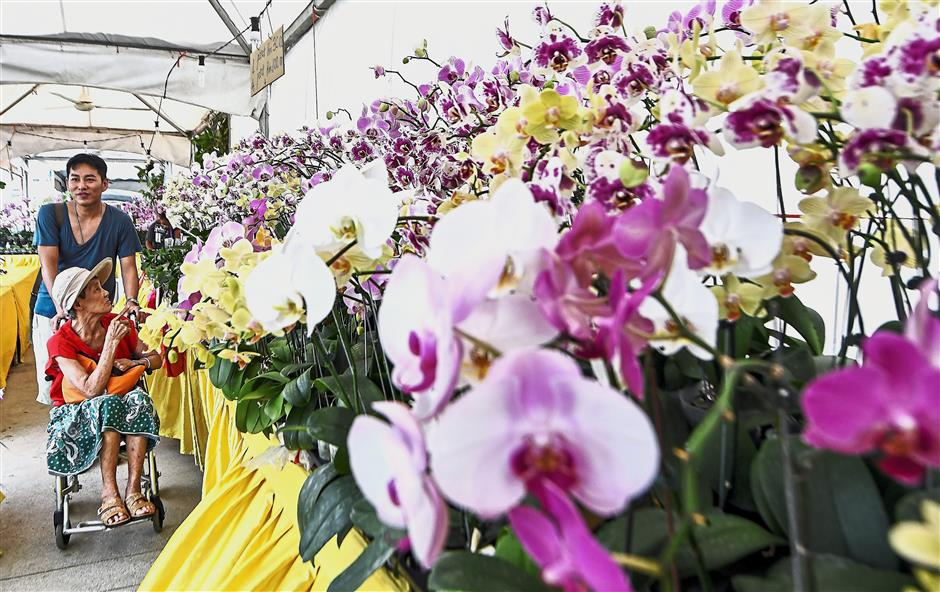 KUALA LUMPUR, 7 Dis -- Pengunjung tidak melepaskan peluang untuk melihat keunikkan pelbagai jenis bunga Orkid pada Festival Orkid dan Bonsai Kuala Lumpur (KLOBS) 2017 di Taman Pudu Ulu Cheras hari ini.Sebanyak 800 jenis bunga Orkid dan pokok Bonsai yang dipamerkan pada festival tersebut dan berlangsung sejak 2 Disember hingga 10 Disember ini.--fotoBERNAMA (2017) HAK CIPTA TERPELIHARA