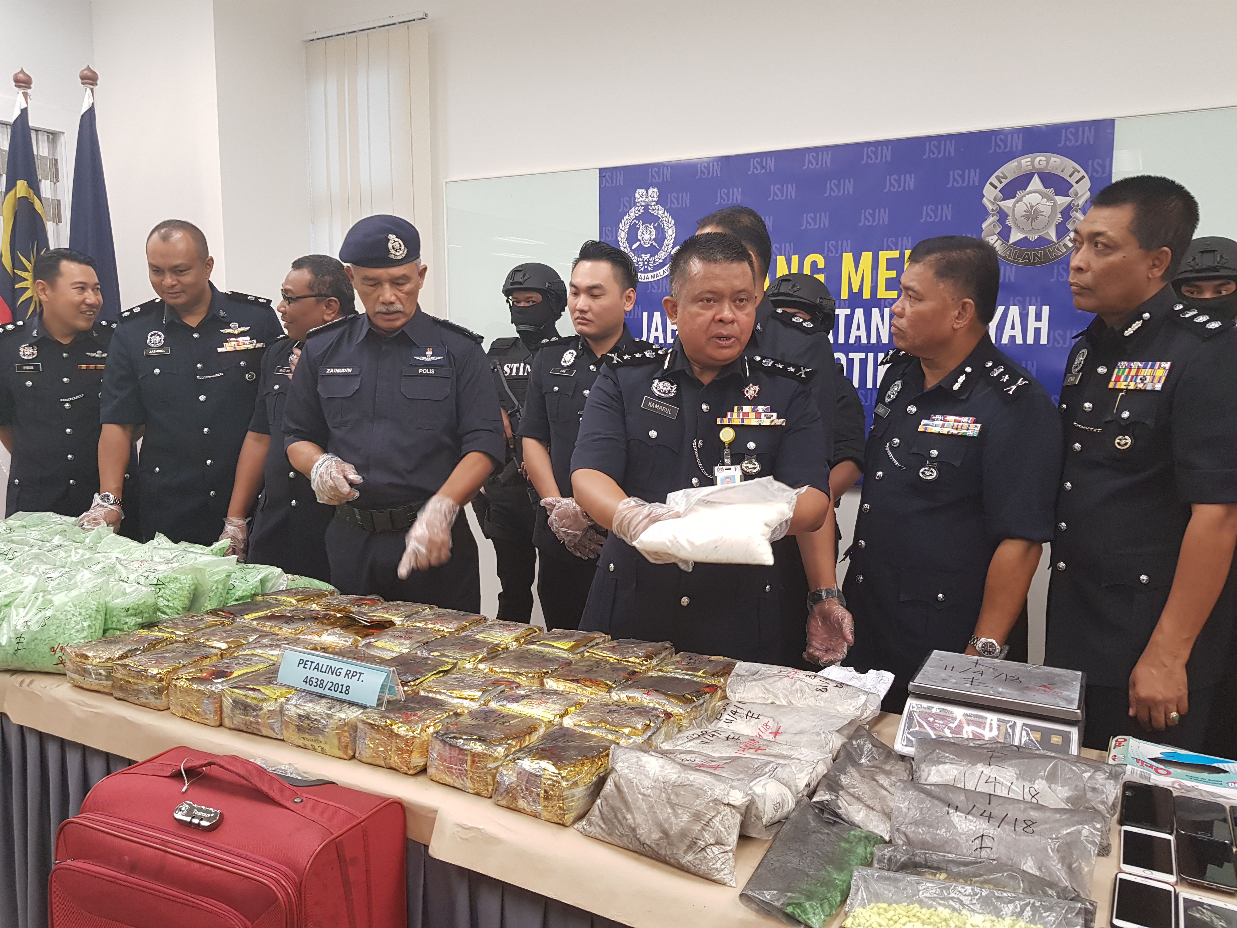 Police seize RM8 5mil worth of drugs, arrest eight in four