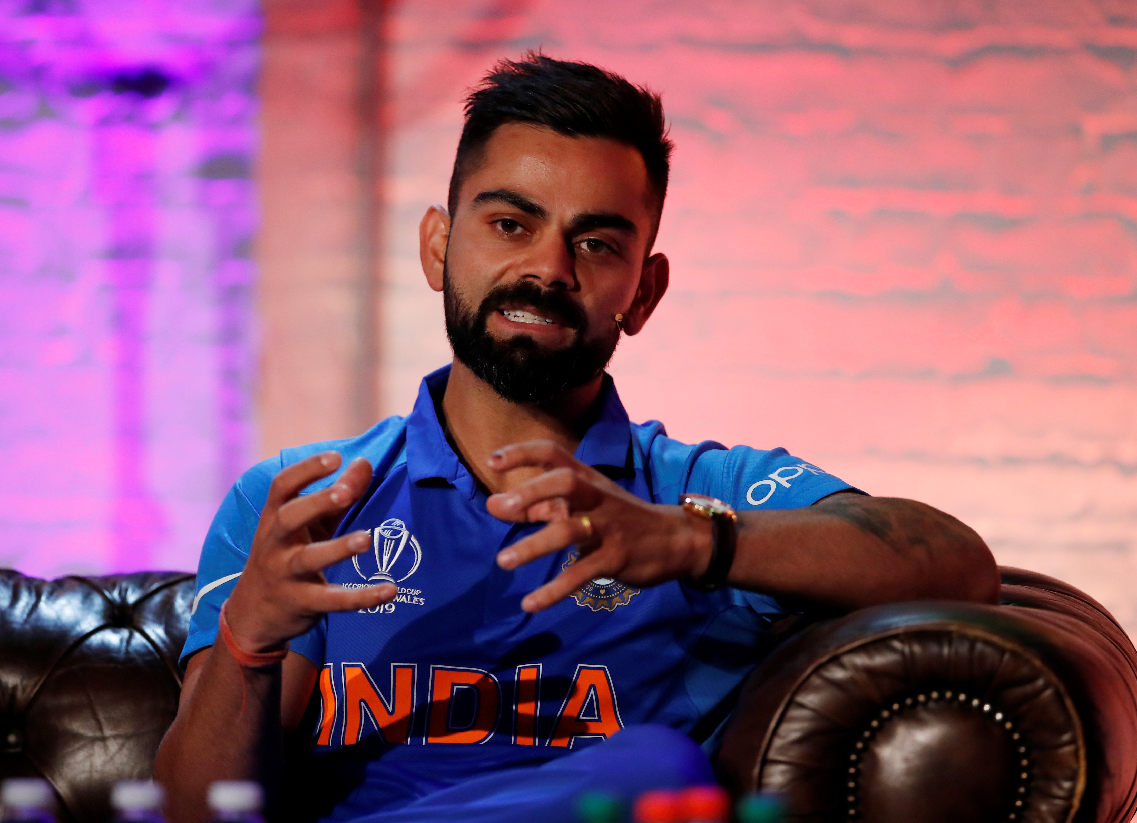 Cricket - ICC Cricket World Cup - Captains Press Conference - The Film Shed, London, Britain - May 23, 2019   India's Virat Kohli during the press conference   Action Images/Andrew Boyers/Pool