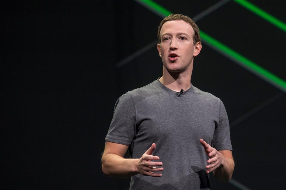 Mark Zuckerberg, chief executive officer and founder of Facebook Inc., speaks during the Oculus Connect 4 product launch event in San Jose, California, U.S., on Wednesday, Oct. 11, 2017. Facebook unveiled a cheaper virtual-reality headset that works without being tethered to a computer, rounding out its plan for pushing the emerging technology to the masses. Photographer: David Paul Morris/Bloomberg