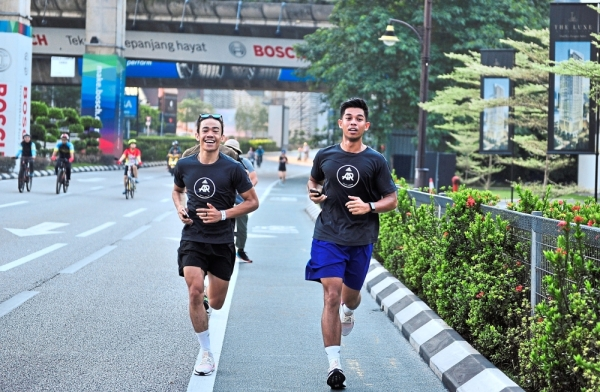 Participants of the adidas Recode Running Festival made their way around the city solving puzzles and collecting miles along the way.