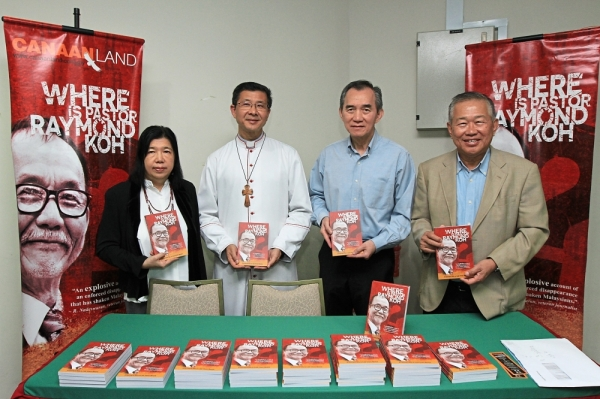 Search for answers: Liew with (from left) the Archbishop of Kuala Lumpur Julian Leow, Damansara Utama Methodist Church senior pastor Daniel Ho, and the co-author of the book Datuk Lee Hwa Beng at the launch of the book.