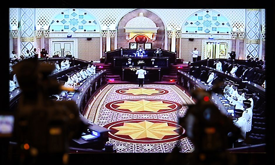 A television grab of the State Legislative Assembly chamber. - ZULAZHAR SHEBLEE / THE STAR