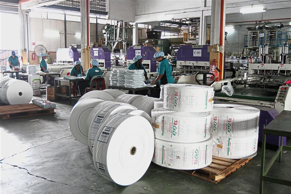 Room to switch: Velson currently produces 100 tonnes of bags a month, about 20 of which are compostable bags.