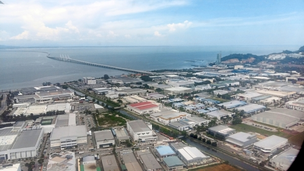 Looking ahead: An aerial view of Penangu2019s Free Industrial Zone. Penang is banking on land reclamation to the south of the island to help fund the stateu2019s economic development.