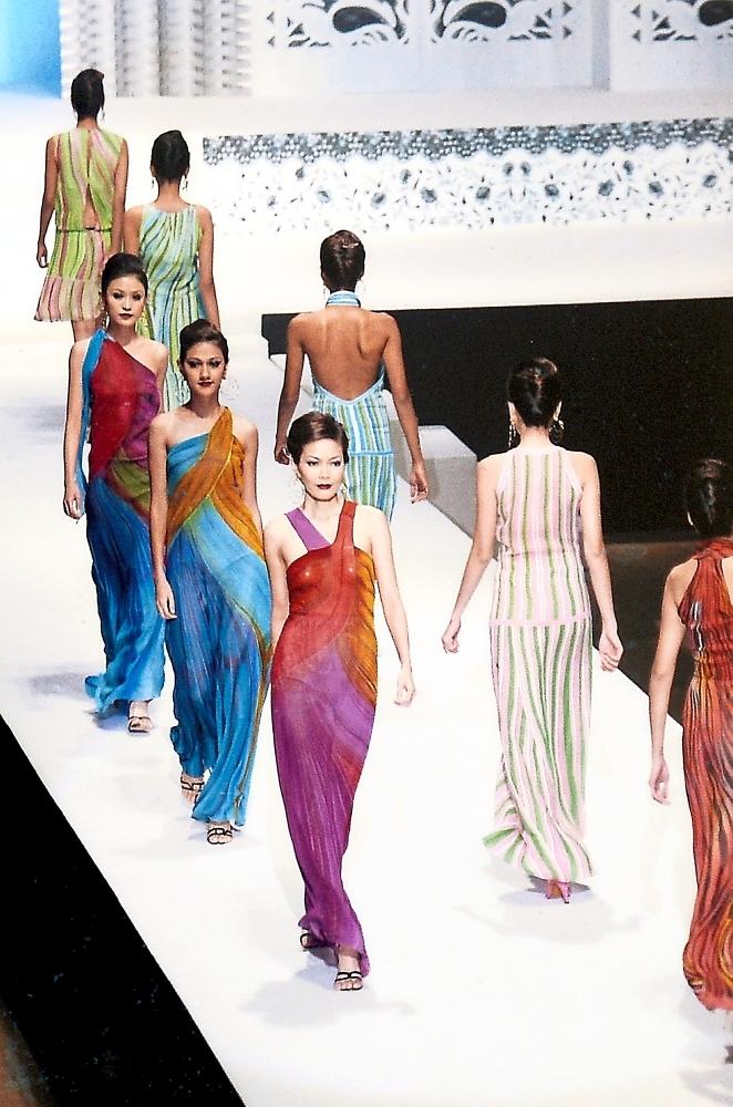 Masrina's batik designs are showcased at international fashion shows.