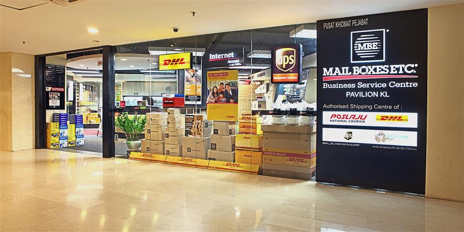 Retail access: Its outlets in malls make it convenient for consumers to get courier services.