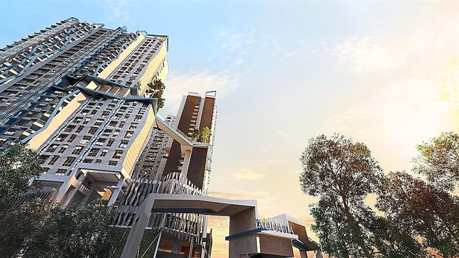 Artists impression of Trinity Aquata in Sungei Besi