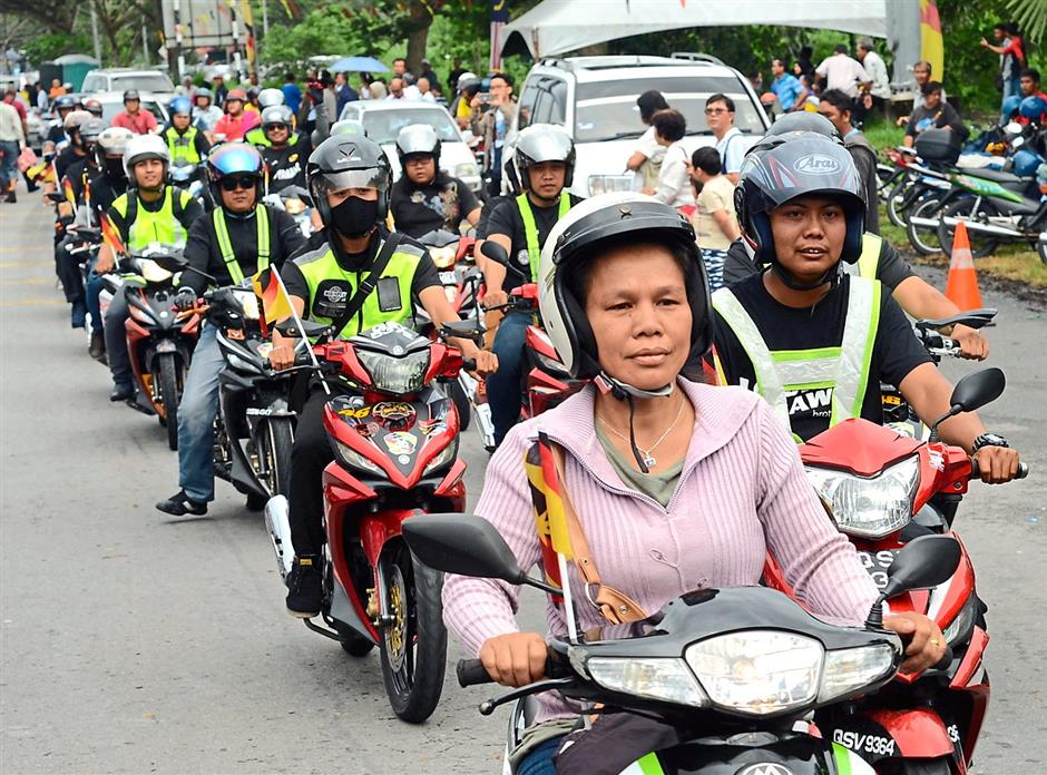Camaderie: Bikers were there to make the event merrier.