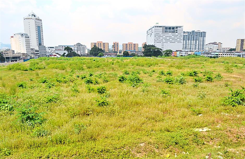 A sheet of lush greens grew on the former Pudu Prison site.
