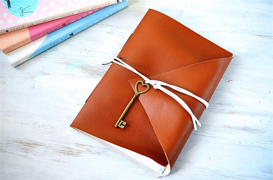 Mark the New Year with a handmade leather journal.