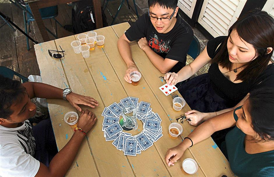 Ring of fire is a game best played with a big group of friends. Each card in a deck represent an action or a little game every player has to play. Any player who makes a mistake in any of the games has to take drink. KAT to shoot '10 drinking games' for MOB. 06 Oct 2014 CHAN TAK KONG/The Star
